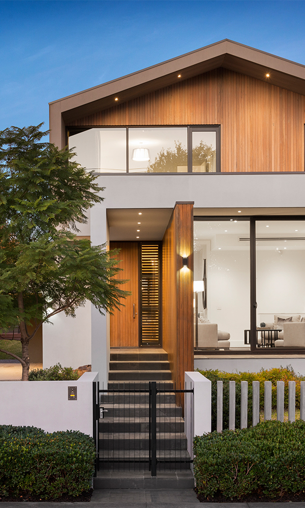 Modern wood clad and glass fronted house lwb mortgage adviser - LWB carousel house - LWB Mortgage Adviser